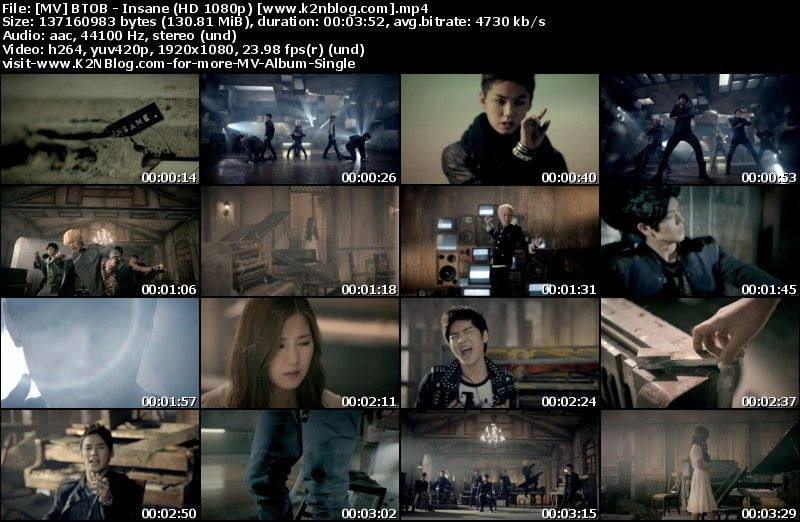 [MV] BTOB   Insane (HD 1080p Youtube)