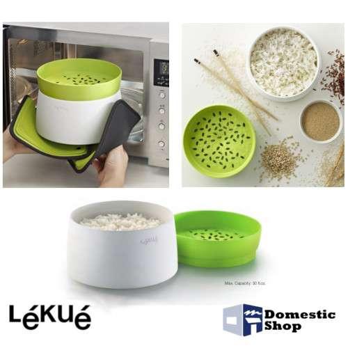 Cuociriso e cereali lekue 39 accessorio per cucinare con il microonde cuoci riso domesticshop - Cucinare a microonde ...