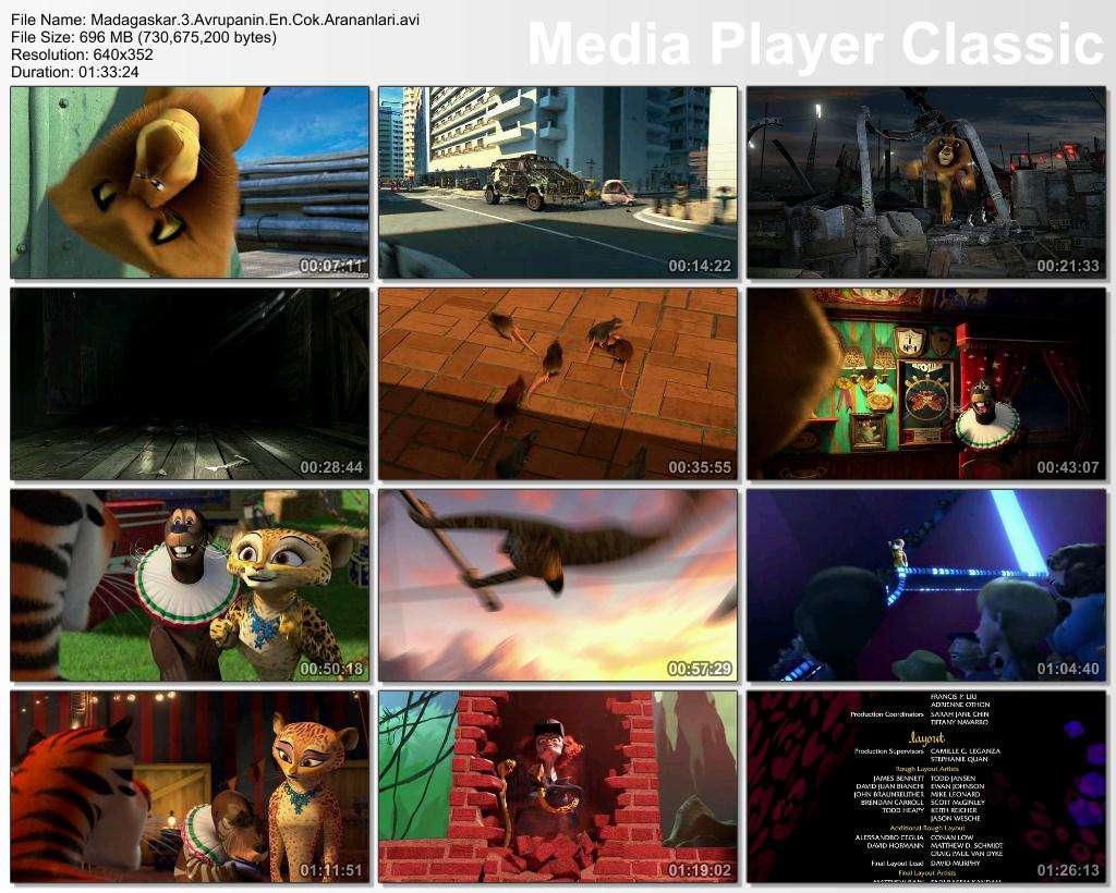 Madagaskar 3 Avrupanın En Çok Arananları - 2012 BDRip XviD - Türkçe Dublaj Tek Link indir