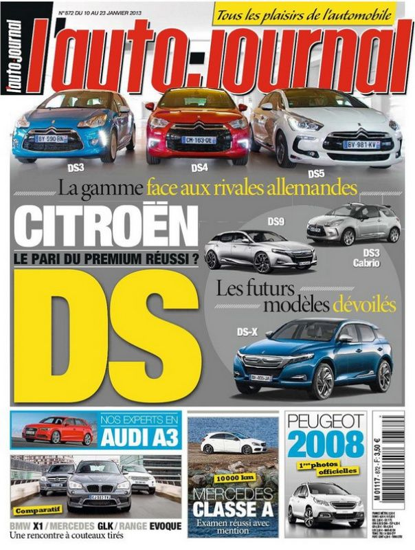 L'Auto Journal N°872 du 10 au 23 Janvier 2013