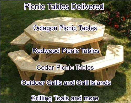 picnic tables delivered