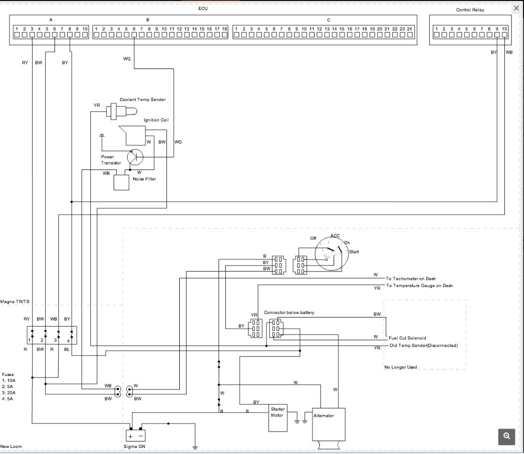 EFI wiring / sensors